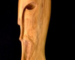 Helm-Maske-Eiche-35cm